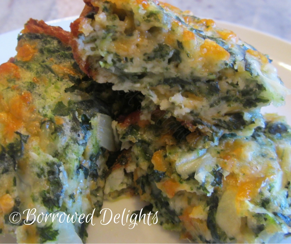 Cheesy Spinach Squares | Borrowed Delights